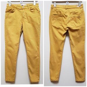Zara Mustard Yellow Skinny Jean